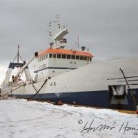Mir landaði á Húsavík í febrúar 1999